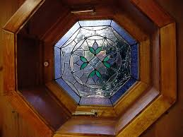stained glass for octagonal window outside pinterest window