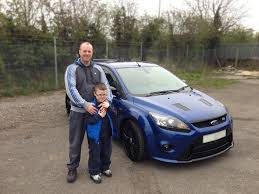 ford focus for sale scotland neil from scotland collecting his ford focus rs focusrs rs