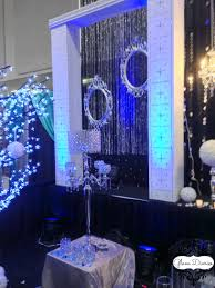 royal blue and silver decorations viewing gallery wedding 3