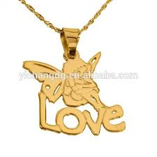 name pendant new design name pendant necklace 24k gold plated angel pendant
