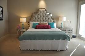 bedroom glamorous bedroom set with mirror headboard mirror