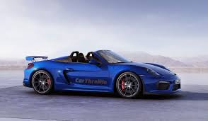 Porsche Boxster Blue - this is how gorgeous the porsche boxster spyder gt4 could look