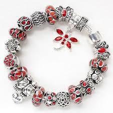 silver beaded charm bracelet images Pandora style bracelets collection on ebay jpg