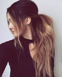 layer hair with ponytail at crown messy balayage ponytail messy hair pinterest balayage