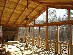 room converting screened porch to three season room
