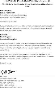 t77h747 nfc module cover letter t77h747 fcc confidential letter