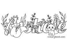 skittle swear words coloring page from the sweary coloring