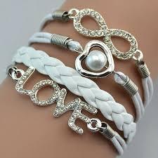 love bracelet images White infinity pearl love bracelet JPG