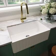 what size undermount sink fits in 30 inch cabinet vigo matte undermount apron front farmhouse 30 in x 18 in matte white single bowl workstation kitchen sink
