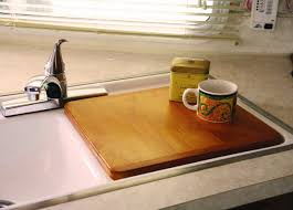 Kitchen Sink Covers Camco Oak Accents Rv Sink Cover Adds Additional