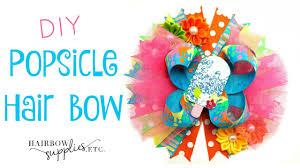 hair bow supplies diy popsicle hair bow tutorial summer hair bow hairbow