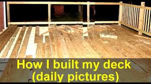 how to build a backyard wood deck a big job youtube
