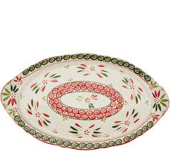 ceramic platter temp tations 18 world platter with figural handles page 1