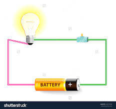 component simple electronic circuit diagram electric shock stock
