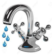 kitchen faucet drip water vector illustration royalty free cliparts vectors