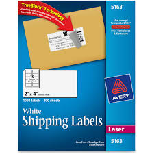2 X 4 Label Template 10 Per Sheet Avery 5163 Easy Peel White Shipping Labels Permanent Adhesive 2