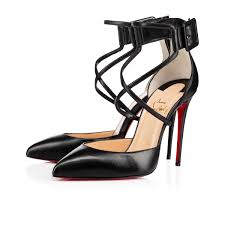 suzanna 100 black leather women shoes christian louboutin