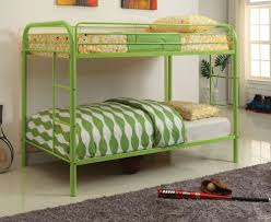 Iron Bunk Bed Furniture Of America Rainbow Metal Bunk Bed Green Cm