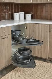 corner base cabinet for kitchen blind corner base with lemans swingout in gray omega