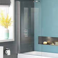 1000mm bath shower screen modern frameless designer glass bathroom