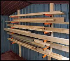 Free Storage Shelf Woodworking Plans by Lumber Storage Rack System Plans Diy Free Download How To Build A