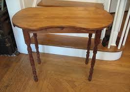 kidney bean shaped table kidney shape desk mid century modern solid hardwood desk kidney