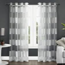 Bed Bath Beyond Sheer Curtains Buy Horizontal Striped Curtains From Bed Bath U0026 Beyond