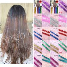 laser hair extensions women color glitter tinsel laser hair extension