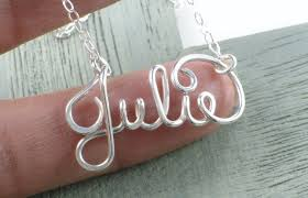 Gold Cursive Name Necklace Name Necklace Sterling Silver Personalized Name Necklace Custom
