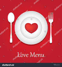 template valentine day restaurant menu card stock vector 125065529