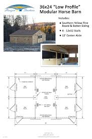Barn Plans 24x36 4 Stall Modular Horse Barn Delivered In 2 Pre Built