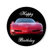 corvette birthday corvette stickers zazzle