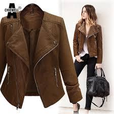 light brown vest womens achiewell plus size 5xl winter women pu leather jacket long sleeve