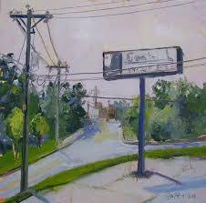 original plein air oil painting urban landscape small