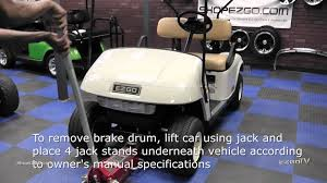 ezgo brake drum installation how to install golf cart brake