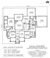 Simple 4 Bedroom Floor Plans One Storey House Plans Single Story Modern Farmhouse Style Plan