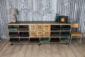 Vintage Metal Storage Cabinet Vintage Style Sideboard With Metal Storage Box