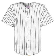 Black Flag Baseball Tee Button Down Warp Knit Pinstripe Baseball Jersey