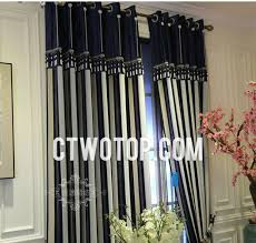 Blackout Navy Curtains Beautiful Striped Blackout Navy Striped Curtains