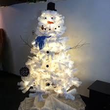 snowman tree diy white christmas tree snowman diy craft projects
