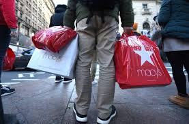 shoppers take advantage of the black friday sales the day after