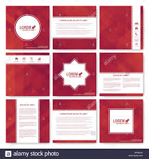square set of brochure business science medicine and technology