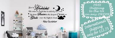 nursery wall art uk shenra com wall sticker nursery decal disney quote islamic art vinyl home