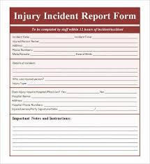 sample incident report form template templatezet
