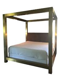 Metal Canopy Bed by Bernhardt Kensington Metal Canopy Bed Chairish