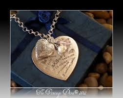 custom locket necklace i you in 17 languages engraved heart pendant locket necklace