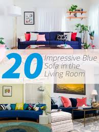 Living Room With Blue Sofa 20 Impressive Blue Sofa In The Living Room Home Design Lover