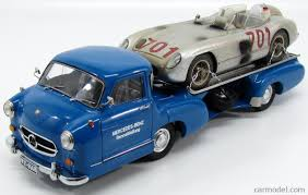 cmc m163 scale 1 18 mercedes benz racing car transporter truck