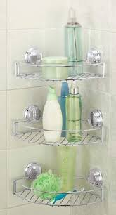 Bathroom Shower Storage Grundtal Corner Wall Shelf Unit Stainless Steel Corner Unit