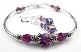 bangle bracelet with crystal images Handmade swarovski crystal birthstone bangle bracelet earrings sets jpg